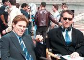 С Виллемом Дефо на съемках фильма «Человек-паук» (2002)