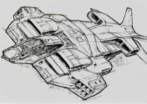 эскиз космического корабля