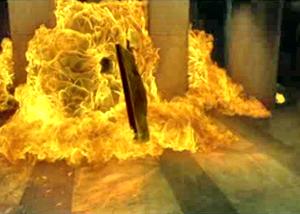Подрыв лифта в Матрице