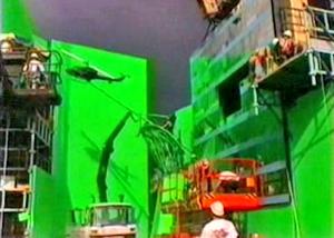 На съемочной площадке Матрицы