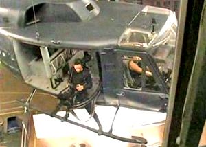 Съемки вертолета в Матрице