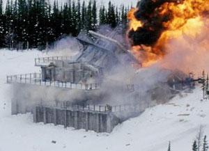 взрыв в горах в фильме начало