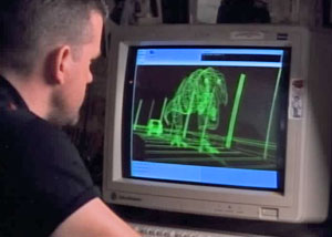 Динозавр на компьютере