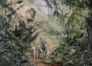 Эскиз с тиранозавром