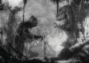 Кинг Конг и тиранозавр