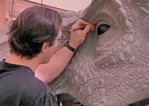 Работа над динозаврами в фильме Парк Юрского периода