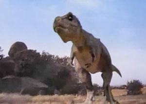Ролик с тиранозавром