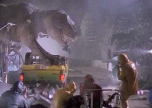 Сцена с тиранозавром
